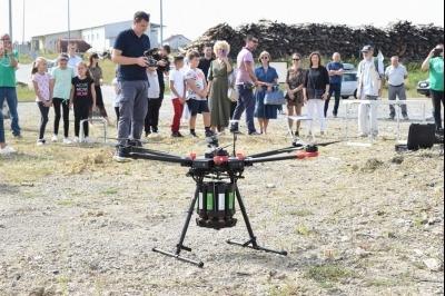 Probno pošumljavanje dronom u Zoni malog i srednjeg poduzetništva
