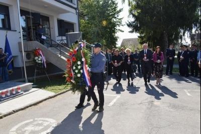 Otkrivanje spomen obilježja policajcima K. Fabri, V. Špirancu, I. Škecu i V. Salaju, 25. rujna 2021.