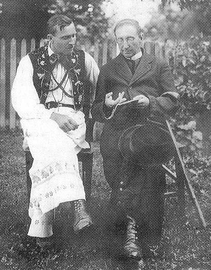 Jemeršić s mještaninom Ivanom Trošićem, 1924. godina